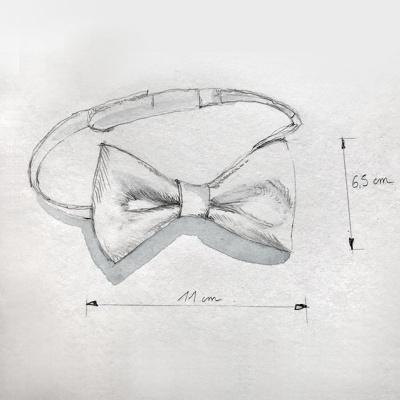 Dessin nœud papillon en cuir Marine Jullien Atelier.